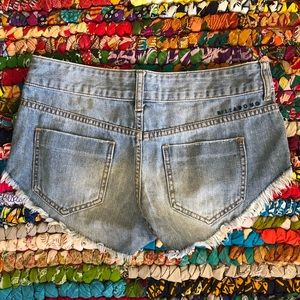 Billabong Distressed Cutoff Jean Shorts Size 26